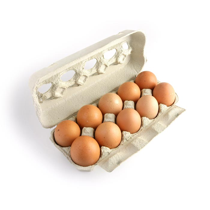 brown chicken eggs cartons